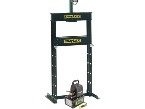 IED1010, 10 Ton (89 kN), H-Frame Hydraulic Press with RDA1010 Double