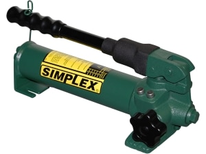 P20, Two Speed, Compact Steel Hydraulic Hand Pump, 0 16 in3